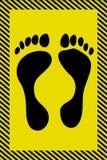 Das Plakat für die Füße Stockbild