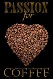 Das Plakat mit Kaffeebohnen Lizenzfreie Stockfotos