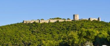 Das Platamon-Schloss stockbild