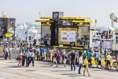 Das Podium von Le-Tour de France Lizenzfreie Stockfotos