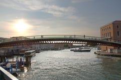 Das Ponte-della Costituzione in Venedig, Italien stockbilder