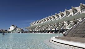 Das Pool an der Stadt von Künsten und von Wissenschaft, Valencia Stockbild