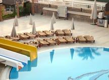 Das Pool im Hotel Lizenzfreies Stockbild