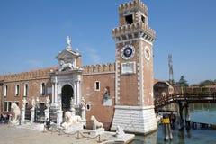 Das Porta Magna am venetianischen Arsenal Stockbild