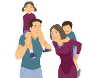 Das Porträt der Familie auf Weiß vektor abbildung