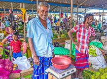 Das Porträt des Marktverkäufers in Wellawaya Lizenzfreie Stockbilder