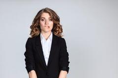 Das Porträt einer schönen traurigen Mädchennahaufnahme Lizenzfreie Stockbilder