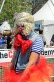 Das Porträt t von Dame - Clown Lizenzfreie Stockfotografie