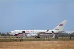 Das Präsidentenflugzeug Stockfotografie