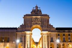 Das Praça tun Comércio (Englisch: Handels-Quadrat) wird herein lokalisiert lizenzfreie stockfotos