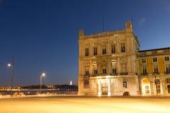 Das Praca tun Comercio (Englisch: Handels-Quadrat) in Lissabon lizenzfreies stockfoto