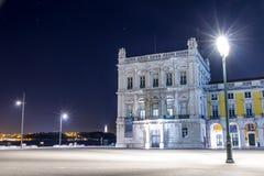 Das Praca tun Comercio (Handels-Quadrat) in Lissabon stockfotografie