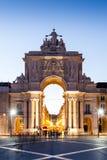 Das Praca tun Comercio in Lissabon stockfoto