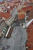 Das Prag vom Himmel, v Stockbild