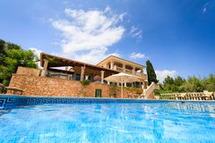 Das private spanische Haus Stockfotos