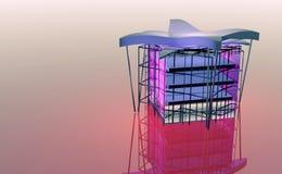 Das Projekt eines öffentlichen Gebäudes Lizenzfreie Stockbilder