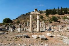 Das Prytaneum in alter Stadt Ephesus, Selcuk, die Türkei stockbilder