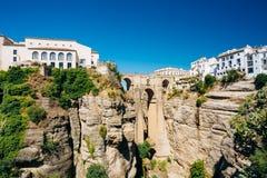 Das Puente Nuevo - neue Brücke in Ronda, Spanien Lizenzfreies Stockbild