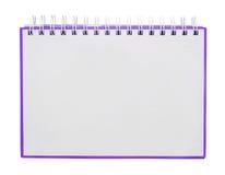 Das purpurrote Anmerkungsbuch Stockbild