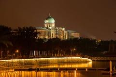 Das Putra Perdana bei Sonnenuntergang Lizenzfreies Stockbild