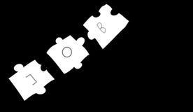 Das Puzzlespiel Vektor Abbildung