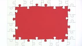 Das Puzzlespiel lösen - Zeitspanne stock video footage