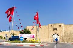Das Qasaba und die Wälle von Sousse, Tunesien lizenzfreie stockfotografie