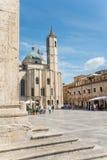 Das Quadrat der Leute in Ascoli - IT Lizenzfreie Stockbilder