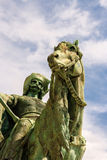 Das Quadrat des Statuen-Helden Lizenzfreie Stockbilder