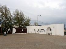 Das Quadrat am 25. Mai in der südlichen Stadt von Ushuaia Stockfotografie
