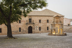 Das Quadrat und die Quelle von Santa Maria Stockfoto