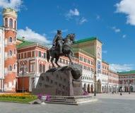 Das Quadrat von Obolensky-Nogotkov Yoshkar-Olastadt Russland Stockfoto