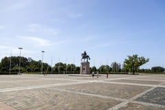 Das Quadrat vor dem Konstantinovsky-Palast im Zustands-Komplex 'Palast von Kongressen im Dorf von Strelna, St.-Haustier stockbild