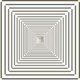 Das quadratische Feld stufenweise verringern Stockbild