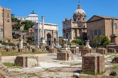Das römische Forum, Rom, Italien stockfotografie