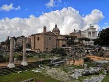 Das römische Forum in Rom stockbilder