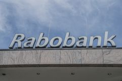 Das Rabobank bei Weesp die Niederlande lizenzfreies stockfoto