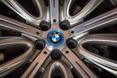Das Rad von BMW zeigte an der 3. Ausgabe von MOTO-ZEIGUNG in Krakau Polen an Lizenzfreie Stockbilder