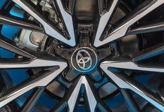 Das Rad von Toyota zeigte an der 3. Ausgabe von MOTO-ZEIGUNG in Krakau Polen an Stockfotografie