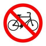 Das Radfahren ist verbotene Illustration Reitfahrrad wird nicht Bild erlaubt Fahrräder werden verboten vektor abbildung