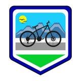 Das Radfahrengemeinschaftslogo Stockbild