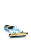 Das Rasiermesser rasieren lokalisiert auf einem weißen Hintergrund Lizenzfreie Stockbilder
