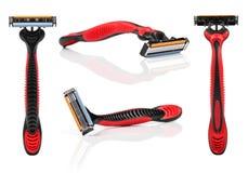Das Rasiermesser rasieren lokalisiert auf Weiß Lizenzfreie Stockfotografie