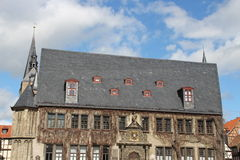 Das Rathaus in Quedlinburg stockfotos