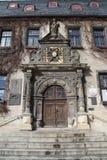 Das Rathaus in Quedlinburg lizenzfreie stockbilder