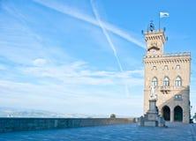 Das Rathaus in San Marino Lizenzfreie Stockfotografie
