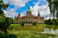 Das Rathaus von Hannover Stockbilder