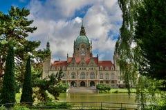 Das Rathaus von Hannover Stockbild