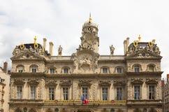 Das Rathaus von Lyon, Frankreich lizenzfreie stockfotografie