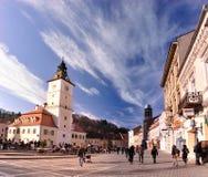 Das Ratsquadrat, Brasov, Rumänien Stockbild
